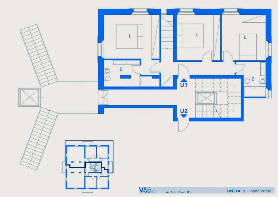 Villa pagani appartamenti for 90s piano house